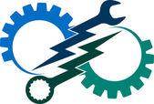 Logo narzędzie elektrowni — Wektor stockowy