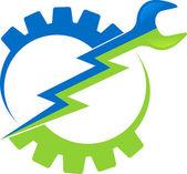 電源ツールのロゴ — ストックベクタ