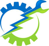 Logo nástroje výkon — Stock vektor