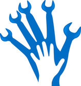 Hand tool logo — Stock Vector