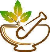 Herbal logo — Stock Vector