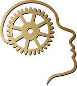 Mind gear logo — Stock Vector