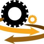 Gear arrow logo — Stock Vector #11918560