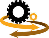 Gear arrow logo — Stock Vector