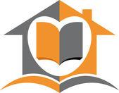 Domácí vzdělávání logo — Stock vektor