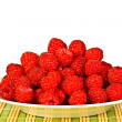 Ripe wild raspberries - Stock Photo