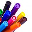 Multicolored markers — Stockfoto #12418051