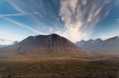 Huge mountains in Iceland in wonderful light — Stock Photo