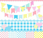 Decorative party elements — Stock Vector