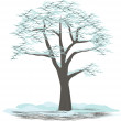 Stock Vector: Tree winter