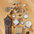 Old clocks — Stockfoto