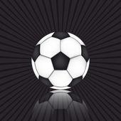 Soccer ball on black background — Stock Vector