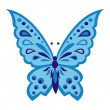 Blue butterfly — Vector de stock #11176161