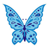 Blue butterfly — Vector de stock