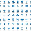 Set of blue navigation web icons — Stock Vector #11849681