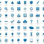 av blå navigering web ikoner — Stockvektor  #11849681