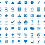 conjunto de iconos azules navegación web — Vector de stock  #11849681
