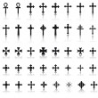 Big collection of crosses — Stock Vector