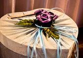 Wedding card box — Stock Photo