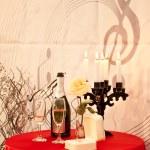 Valentines Dinner Tables — Stock Photo
