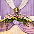 Stock Photo: Wedding table for newlyweds