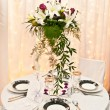 Stock Photo: Wedding table and flowers