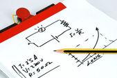 Graphic ohm's law — Stock Photo