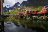 Fishing huts — Stock Photo