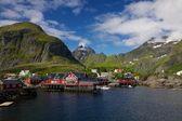Picturesque village on Lofoten — Stock Photo