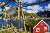 Rorbuer on Lofoten in Norway — Stock Photo