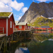 Stock Photo: Fishing huts with sod roof
