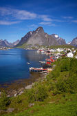 Picturesque town of Reine — Stock Photo