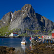 Norwegian fishing village — Stock Photo