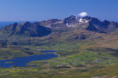 Panorama montano su lofoten — Foto Stock