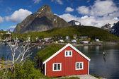 Rorbuer on Lofoten — Stock Photo