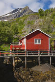 Norwegian Rorbu hut — Stock Photo