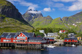 Village pittoresque sur les lofoten — Photo