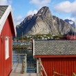 Rorbu on Lofoten - Stock Photo