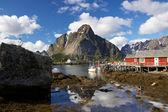 絵のような漁業の町 — ストック写真