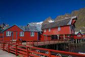 Puerto de pesca en noruega — Foto de Stock