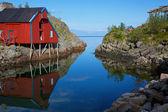 Cabana de pesca — Foto Stock