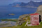 Norska panorama på lofoten — Stockfoto