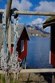 Fishing huts — Stock Photo