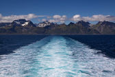 Lofoten islands from the sea — Stock Photo