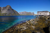Panorama by fjord — Stock Photo