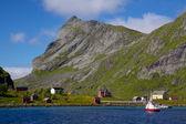 Noorse dorp — Stockfoto