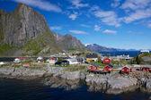 ロフォーテン諸島のハムネイの村 — ストック写真