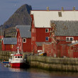Norwegifishing harbor — Stock Photo #12388052