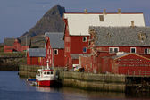 Norwegian fishing harbor — Stock Photo
