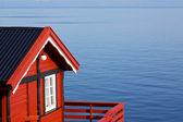 Cabane de pêcheur au bord de mer — Photo